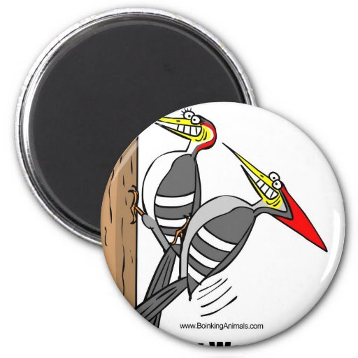 woodpeckers boinking, woodpeckers mating fridge magnet