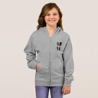 Woodpeckers Girl's Basic Zip Hoodie