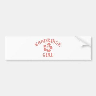 Woodridge Pink Girl Car Bumper Sticker