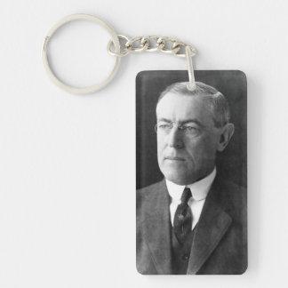 Woodrow Wilson Double-Sided Rectangular Acrylic Key Ring