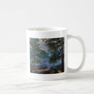 Woods and River scene Coffee Mugs