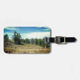 Woods and the sky luggage tag