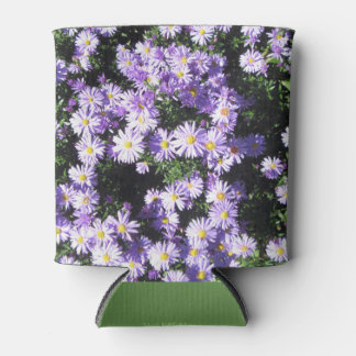 Woods Blue Fall Asters Can Cooler