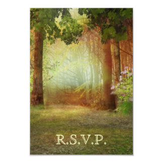 Woods Forest Outdoor Casual Elegant RSVP Card 9 Cm X 13 Cm Invitation Card
