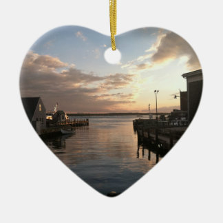 Woods Hole Harbor Christmas Ornament