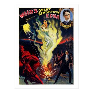 "Wood's Sensation ""Edna"" Postcard"