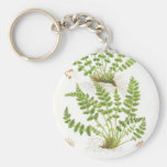 Woodsia Fern Basic Round Button Key Ring