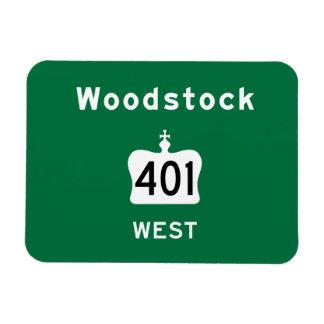 Woodstock 401 rectangular magnet
