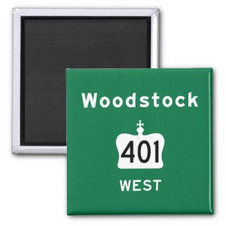 Woodstock 401 square magnet
