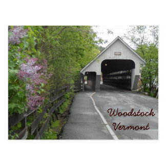 Woodstock Covered Bridge, Vermont Postcard