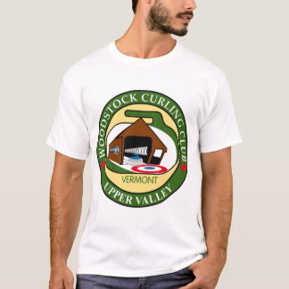 Woodstock Curling Club Men's White T-shirt