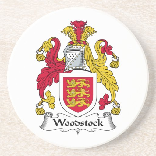 Woodstock Family Crest Drink Coasters