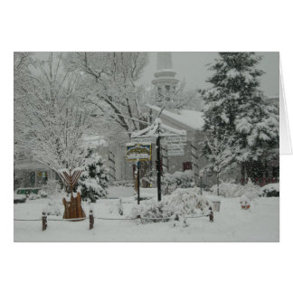 Woodstock, NY Town Square Greeting Card