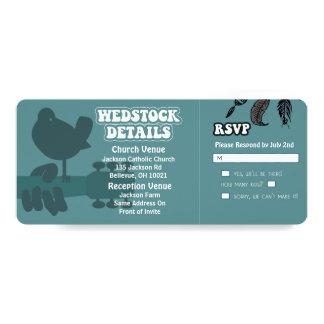 Woodstock-Wedstock Wedding Invitations