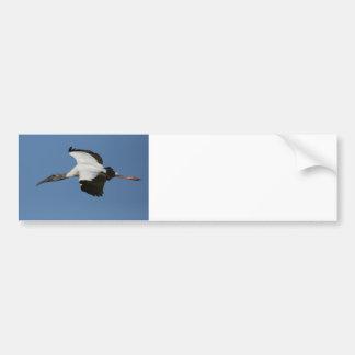 Woodstork in Flight Bumper Sticker
