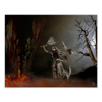 Woodswoman Poster