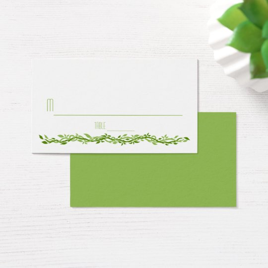 Woodsy Elegance | Wedding Vine Place Card Escort