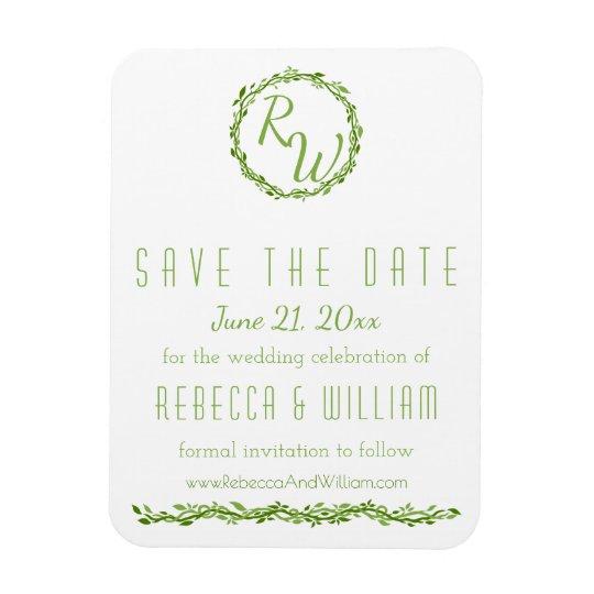 Woodsy Elegance   Wedding Vine   Save The Date Magnet