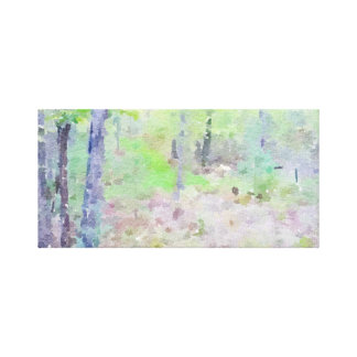 Woodsy Watercolor Canvas Print