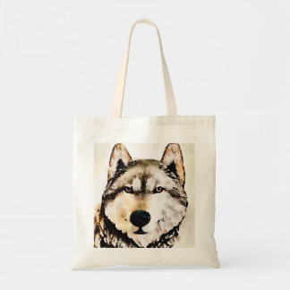 Woodsy Wolf Head Tote Bag