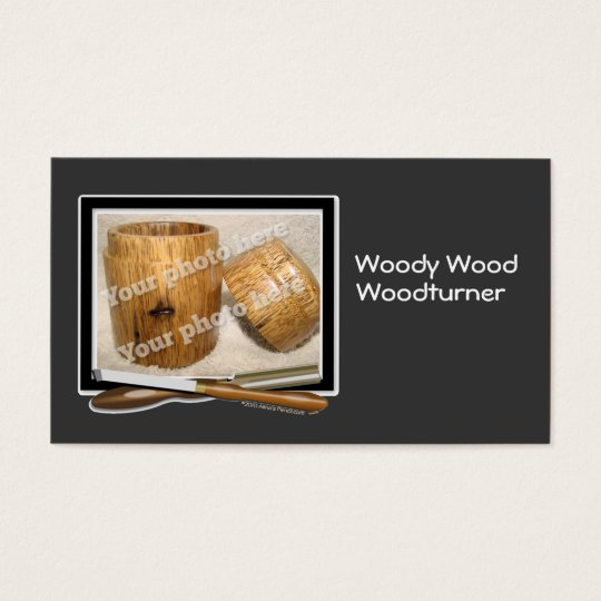 Woodturner Tools Custom Photo Black White Template Business