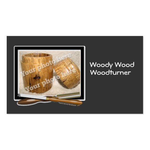 Woodturner Tools Custom Photo Black White Template Business Cards