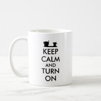 Woodturning Gift Keep Calm and Turn On  Lathe Coffee Mug