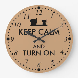 Woodturning Gift Keep Calm and Turn On  Lathe Large Clock