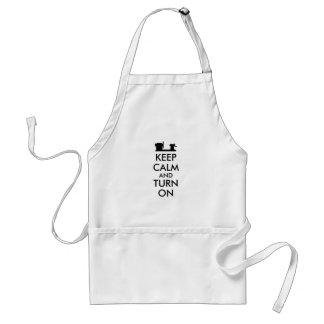 Woodturning Gift Keep Calm and Turn On  Lathe Standard Apron
