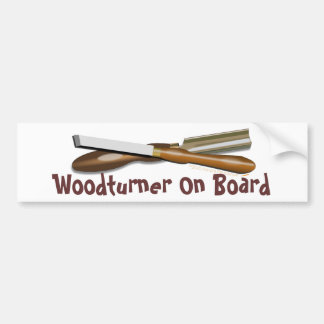 Woodturning Tools Crossed Roughing Gouge and Skew Bumper Sticker