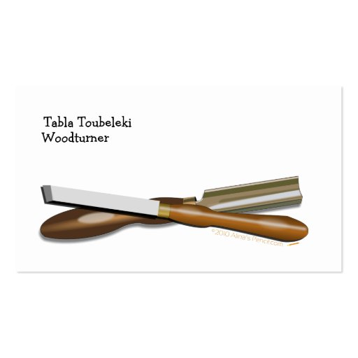 Woodturning Tools Crossed Roughing Gouge and Skew Business Card Template