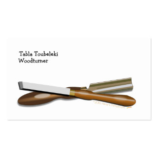 Woodturning Tools Crossed Roughing Gouge and Skew Pack Of Standard Business Cards