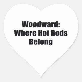 Woodward Were Hot Rod Belong Heart Sticker