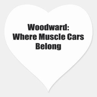 Woodward Were Muscle Cars Belong Woodward Gifts Heart Sticker