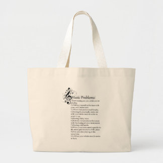 Woodwind problems list large tote bag