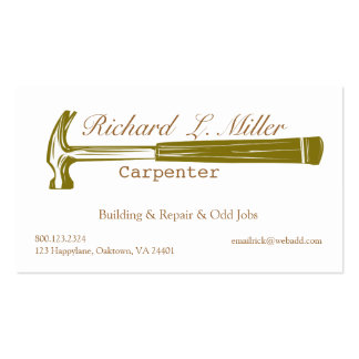 Woodwork Handyman Carpenter Construction Pack Of Standard Business Cards