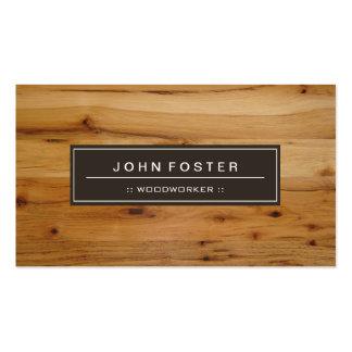Woodworker - Border Wood Grain Pack Of Standard Business Cards