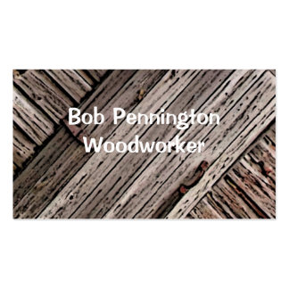 Woodworker Pack Of Standard Business Cards