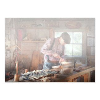 Woodworker - Carving - Carving a duck Personalized Invitations