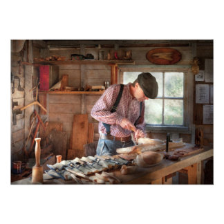 Woodworker - Carving - Carving a duck Invite