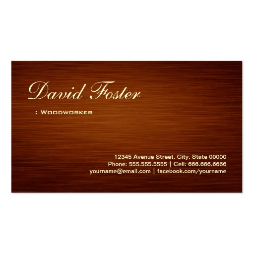 Woodworker - Wood Grain Look Business Cards
