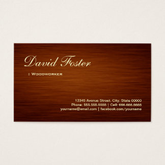 Woodworker - Wood Grain Look Business Card