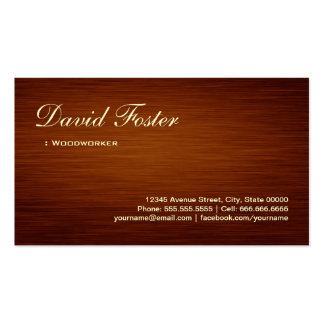Woodworker - Wood Grain Look Pack Of Standard Business Cards