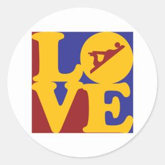 Woodworking Love Round Sticker