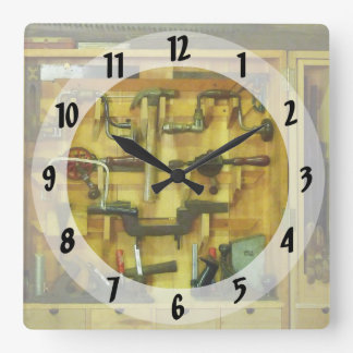 Woodworking Tools Square Wall Clock