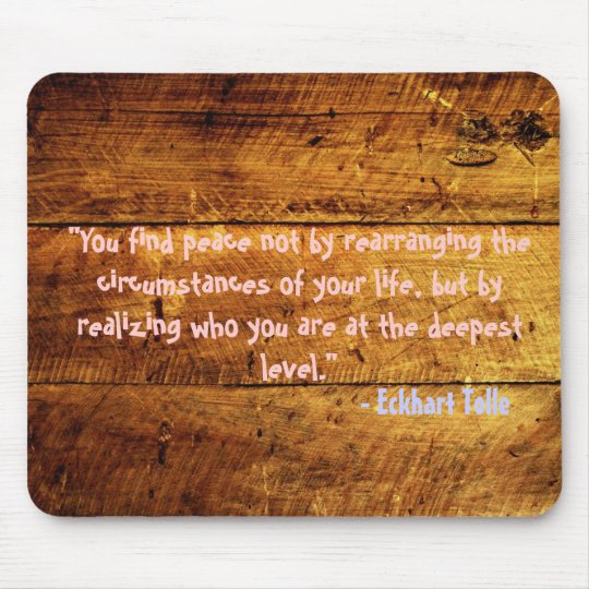 woody grunge quote mouse mat