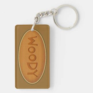 Woody Nickname Double-Sided Rectangular Acrylic Key Ring