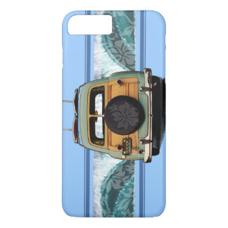 Woody Wave Hawaiian Surf Illustration iPhone 8 Plus/7 Plus Case
