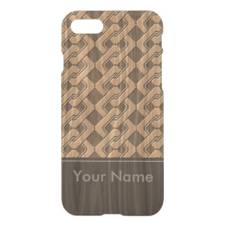 < Woody >Yosihara connecting grain pitch design iPhone 8/7 Case