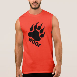 Woof Bear Pride Claw Black Sleeveless Shirt